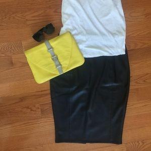 Asos  Black Pleather Skirt Butter